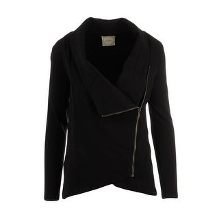 Alythea Womens Asymmetric Zip Front Blazer - S