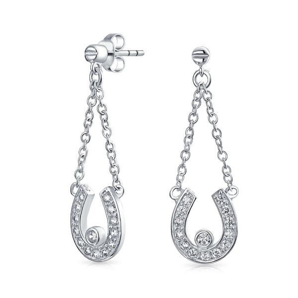 A pair of Solid Sterling Silver Earrings Lucky Horseshoe Stud Earrings 925