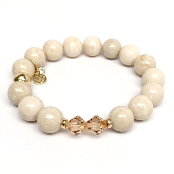 """Ivory Jade Paris 7"""" Bracelet"""