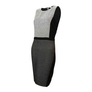 DKNYC Women's Honeycomb Ponte Sheath Dress
