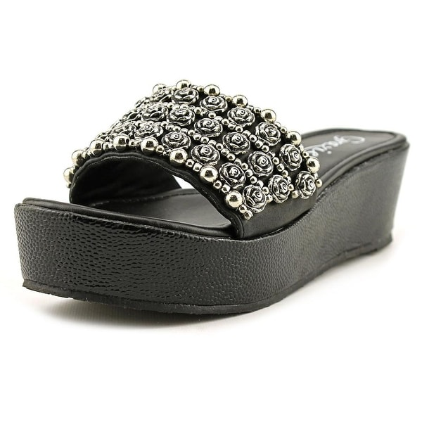 Grazie Ring Open Toe Synthetic Slides Sandal