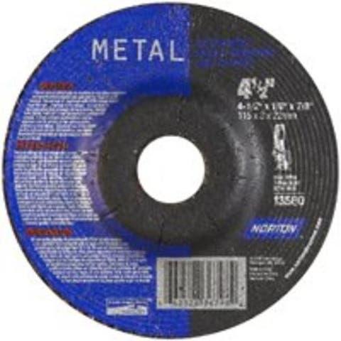 "Norton 66252836798 Aluminum Oxide Metal Wheel, 4-1/2""x1/8""x7/8"""