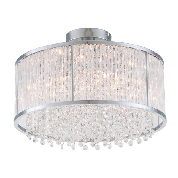 Dvi Lighting Dvp8511 Spar 3 Light Semi Flush Ceiling Fixture Chrome Clear Crystal N A