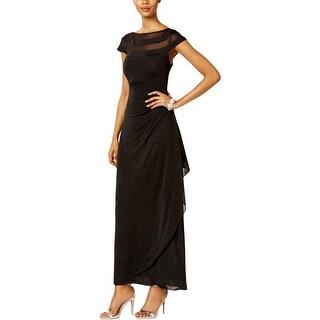 MSK Womens Evening Dress Mesh Inset Illusion