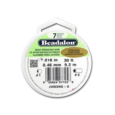 "Beadalon Bead Wire 7Strand .018"" Satin Gold 30'"