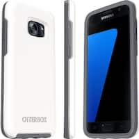 New OtterBox Symmetry Series Samsung Galaxy S7 Drop Protection Case White/Grey