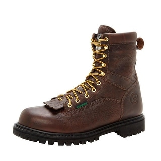 """Georgia Boot Work Mens 8"""" Steel Toe WP Lace Leather Chocolate G8341"""