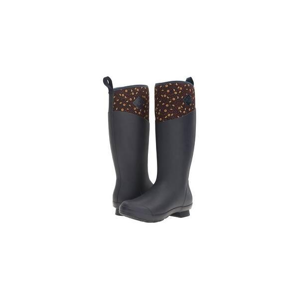 Muck Boot's Women's Tremont Tall Navy Meadows Boots w/ 4mm CR Flex-Foam - Size 7