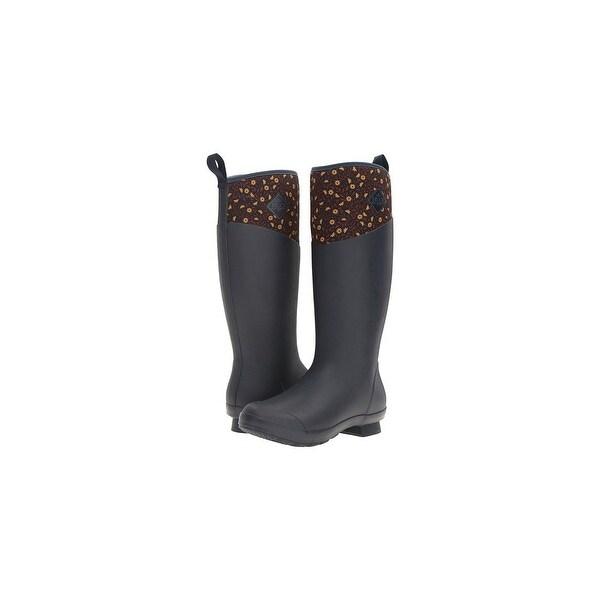 Muck Boot's Women's Tremont Tall Navy Meadows Boots w/ 4mm CR Flex-Foam - Size 9