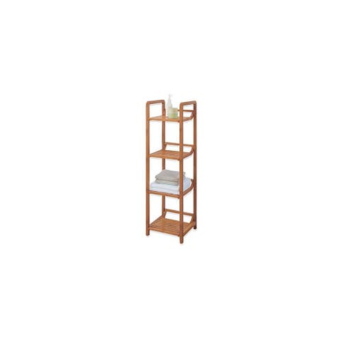 """Organize It All 29954W Lohas 41-1/12"""" H x 12"""" W Free Standing Bamboo Linen Tower"""