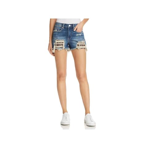Blank NYC Womens The Barrow Cutoff Shorts Denim Medium Wash