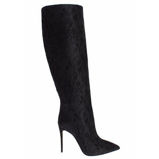 Dolce & Gabbana Black Boots Lace Leather Heels - 39