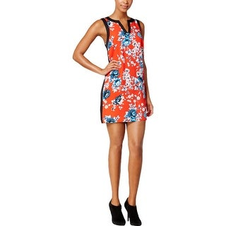 Kensie Womens Cocktail Dress Split Neck Sleeveless