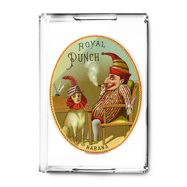 Royal Punch Brand Cigar Seal - Vintage Label (Acrylic Serving Tray)