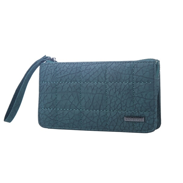 Mad Style Green 3 Compartment Phone Wristlet