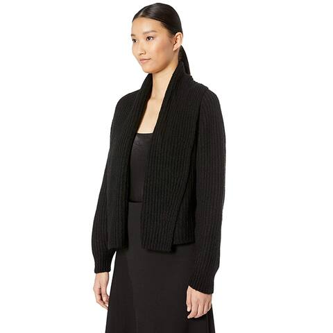 Vince Womens Oversized Shawl Collar Cardigan Black Small