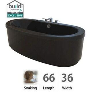 "Jacuzzi BRF6636BCXXXX Bravo 66"" Soaking Freestanding Bathtub with Center Drain"