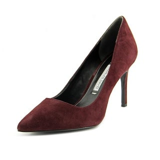 Charles David Donnie Women Pointed Toe Suede Burgundy Heels