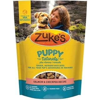 Zukes Puppy Naturals Dog Treats - Salmon & Chickpea Recipe - 5 oz