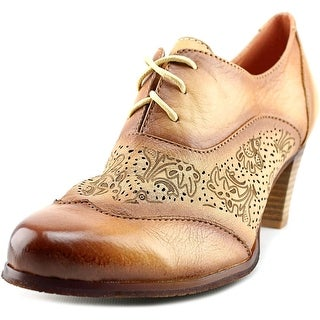 L'Artiste by Spring Step Agila Women Wingtip Toe Leather Tan Oxford