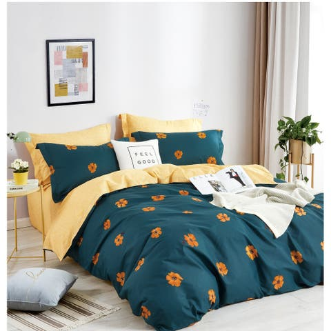 Harper Reversible 100% Cotton Comforter Set