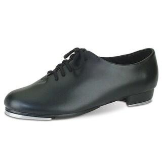 Danshuz Toddler Girls Black Lace Up Non Skid Tap Shoes Size 8.5-3