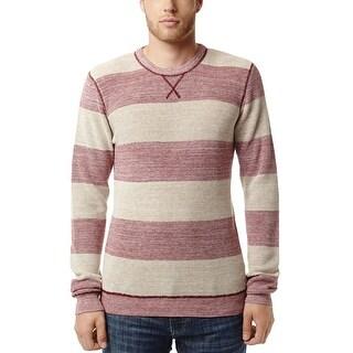 Buffalo David Bitton Wal-Kay Long Sleeve Thermal Shirt Red and Beige Small S
