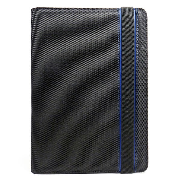 """JAVOedge Blue and Black Nylon Fabric Axis 360 Rotating Smart Cover Case with Stand for the Amazon Kindle Fire HD 8.9"""""""