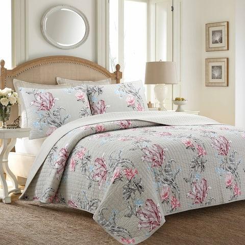 Cozy Line Morning Glory Floral Cotton Quilt Bedding Set