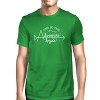 Adventure Begins Tshirt Mens Green Funny College Graduation Gift