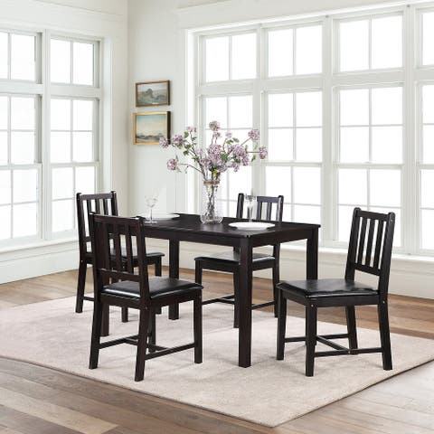 Urban Modern Farmhouse 5-piece Dining Table Set for Kitchen Dining Room