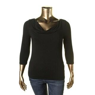 Lauren Ralph Lauren Womens Long Sleeves Stretch Pullover Top