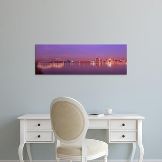 Easy Art Prints Panoramic Images's 'Night Memphis TN' Premium Canvas Art