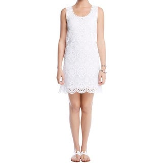 Karen Kane Womens Party Dress Lace Overlay Sleeveless