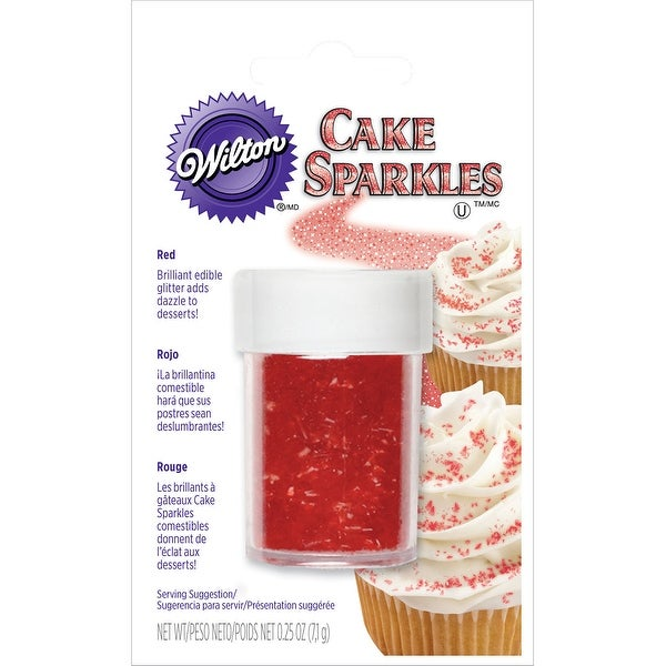 Cake Sparkles .25oz-Red - Red
