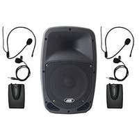 Pull N Go All In One Portable VHF Wireless PA System with Two
