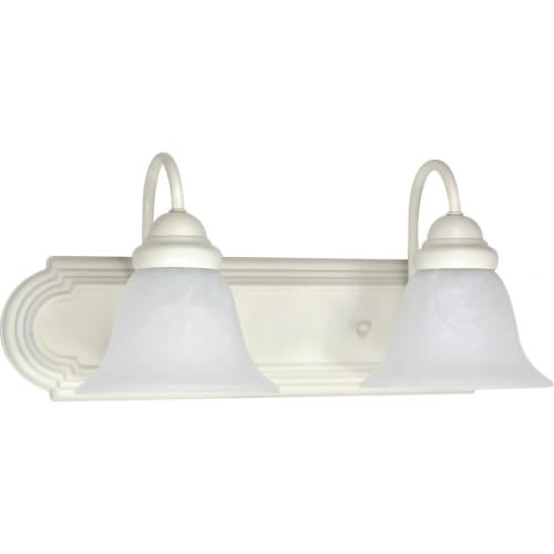 "Nuvo Lighting 60/332 Ballerina 2 Light 18"" Wide Vanity Light with Alabaster Glass Shades"