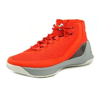 Under Armour GS Curry 3 Youth Round Toe Synthetic Red Basketball Shoe