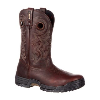 Rocky Work Boots Mens Waterproof Mobilite Burnt Brown RKW0196