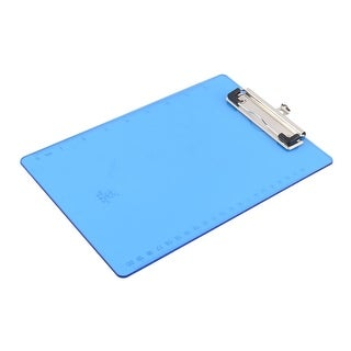 Office Plastic A5 Paper File Writing Board Clipboard Clear Blue 250 x 175mm