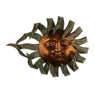 Two Tone Metal Celestial Sun Wall Sculpture - 20.5 X 27 X 1.25 inches