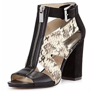 Michael Kors Women's ANYA OPEN TOE Chunky Heels Sandals
