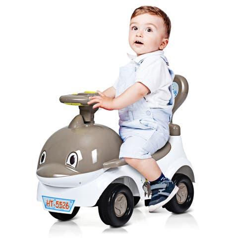 3-in-1Baby Walker Sliding Car Pushing Cart Toddler Ride On Toy w/
