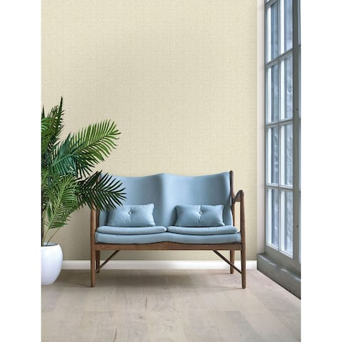 Seabrook Designs Seagrass Weave Embossed Vinyl Unpasted Wallpaper