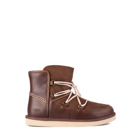 UGG Mens Brown Twinface Leather Levy All Weather Boots