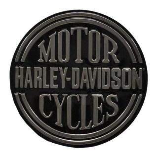 "Harley-Davidson Embossed H-D Platinum Disc Round Tin Sign, Black 2010701 - 14"""