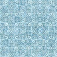 Brewster DLR54651 Shell Bay Blue Scallop Damask Wallpaper - blue scallop damask