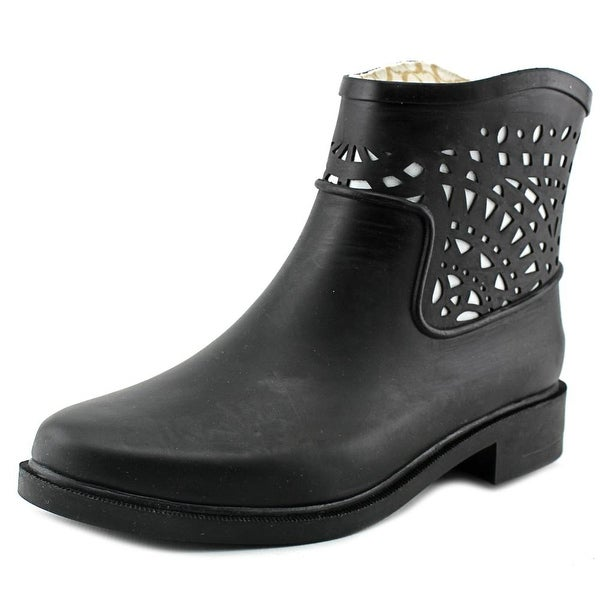 Chooka Deco Laser Cut Bootie Round Toe Synthetic Bootie