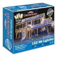 Holiday Bright Lights LEDM8-50WW-CG 50 Light Warm White LED Light Set