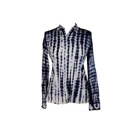 Nanette Lepore Blue Multi Tie-Dye Shirt XS